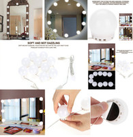 bombilla de luz cálida al por mayor-10 Bombillas Vanidad LED Luces de espejo de maquillaje Bombilla regulable Tonos cálidos / fríos Espejo de decorar Kit de bombillas LED decorativas Accesorio de maquillaje