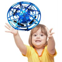 Wholesale infrared flying toy for sale - Group buy Mini Drone UFO Toys Infrared Sensing Control Hand Flying Aircraft Anti collision Hand operated Quadcopter Induction Toy Drone
