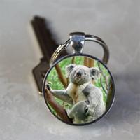 ingrosso ciondolo da orsacchiotto di koala-Portachiavi ciondolo portachiavi ciondolo portachiavi in lega di cristallo orso koala portachiavi regalo accessori per la casa