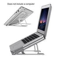 kühler für laptop großhandel-Aluminiumlegierung Einstellbarer Winkel Falten Desktop Multifunktionale Universal Notebook Laptop Ständer Büro Tragbare Halter Kühlregal