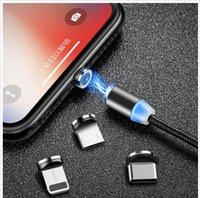 mangas lindo vestido de baile de formatura venda por atacado-Micro cabo de dados USB 1 M 2 M Sem Fio de carregamento rápido 360 graus de sucção cega 3 em 1 cabo de dados magnético para samsung s8 edge s9 ios iphone
