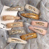 accessoires pour cheveux barrettes latérales achat en gros de-Fille Cristal Épingles À Cheveux De Mode Femmes Côté Poignées De Cheveux Femmes Cheveux Bijoux Partie Enfants Princesse Cheveux Accessoires TTA931