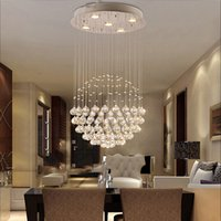 Wholesale hall ceiling light online - Modern Large Crystal Chandeliers Light Fixture for Lobby Staircase Chandelier Long Spiral Crystal Light Lustre Ceiling Lamp
