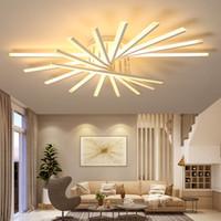 Wholesale transparent remote control resale online - New Arrival Modern led ceiling chandelier lights for living room bedroom dining Study room Aluminum led Chandelier lamp fixtures