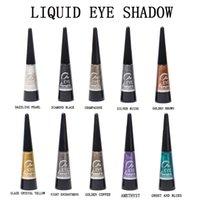 цветные тени для век оптовых-Новый 2019 pearl Eye fluid прочный легкий цветной сплошной цвет тени для век цвет макияжа косметика