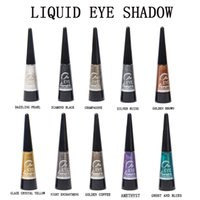 Wholesale colored eye shadow resale online - The new pearl eye fluid durable easy colored solid colored eye shadow colour makeup cosmetics