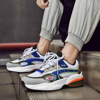zapatillas blancas de hip hop al por mayor-Otoño High Top Men Chunky Sneakers Blanco grueso inferior Tenis Masculino Zapatos casuales Hip Hop street Zapatos Zapatos Hombre
