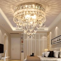 Wholesale rustic iron flowers for sale - Group buy Crystal chandelier lighting luxurious flowers crystal round fancy chandelier lamp led ceiling chandeliers lights for bedroom balcony