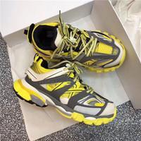 повседневная обувь для бега трусцой оптовых-Мужчины Женщины Повседневная Обувь Трек 3.0 Кроссовки Tess Paris Мужчины Gomma Maille Черный Низкая Трек 3M Triple S Обувь Открытый Бег Дизайнер Clunky