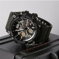 Wholesale digital display alarm watch for sale - Group buy New Fashion Luxury Men s Sports Watches Multifunction LED Analog Dual Display New Designer Watches for Man Male Boy Students Alarm Clock