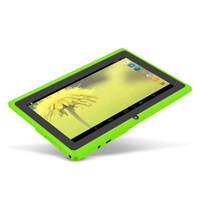 квадратный зеленый оптовых-YUNTAB 7inch Android 4,4 Q88 Allwinner A33 Quad Core 512MB 8GB 1024 * 600 двойная камера 2500mAh батареи (зеленый цвет)