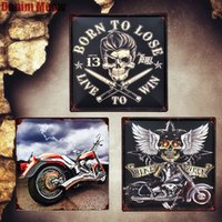 Wholesale italy home decor resale online - Ride To Life Plaque Vintage Metal Plates Italy Motorcycle Decorative Signs Bike Week Wall Stickers Car Painting Home Decor MN81 SH190918