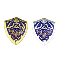 Wholesale game jewelry resale online - Game Jewelry The Legend of Zelda Brooch Pin Hylian Shield Brooch for Men Gift