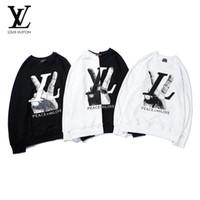 camisolas vintage de grandes dimensões venda por atacado-Mens Hoddies Moda Inverno Camisola Mens Knaye West Vintage Hip-Hop Estilo de Grandes Dimensões Costura camisola de alta qualidade Homens Pullovers