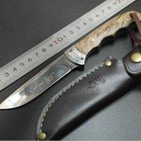 kizarma sabit bıçak av bıçakları toptan satış-Browning Gölge Ahşap Düz Bıçak Ahşap Saplı Sabit Bıçak Bıçaklar Avcılık Outdoorixed Bıçak Bıçak Survival Düz Bıçak