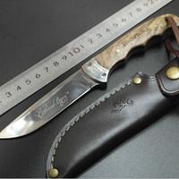 cuchillos de caza de cuchilla fija para dorar al por mayor-Oscurecimiento Sombra Cuchillo recto de madera Mango de madera Cuchillos de hoja fija Caza Cuchillo de hoja al aire libre Cuchillo de supervivencia Cuchillo recto