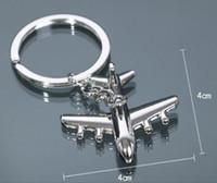 neues mini flugzeug großhandel-Zinklegierung Schlüsselanhänger Halter New Flugzeug Schlüsselbund Mini Flugzeug Modell Schlüsselanhänger für Männer Schlüsselanhänger Charms Flugzeug Schlüsselanhänger
