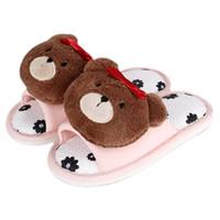 Wholesale indoor slippers for kids resale online - New Little Girls Slippers Cute D Bears Flower Print Girl Slippers for Children s Non Slip Soft Indoor Home Kids Shoes