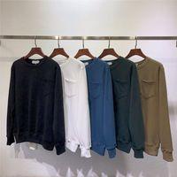 sokak tarzı kadın giyim toptan satış-Erkek Giyim Homme Kapşonlu Sweatshirt Erkek Kadınlar Marka Tasarımcı Kapüşonlular High Street tarzı Kapüşonlular Kazak Kış Tişörtü B100558W