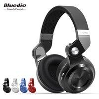 наушники bluedio t2s оптовых-Bluedio оригинальный T2S Bluetooth Беспроводные наушники складной бас гарнитура с микрофоном для смартфона Удобный носить