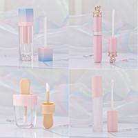 ingrosso imballaggio in plastica liquida-Rosa Lip Gloss Tinta Tubi di plastica FAI DA TE Vuoto trucco Big Lipgloss Liquid Lipstick Custodia Beauty Packaging F2286