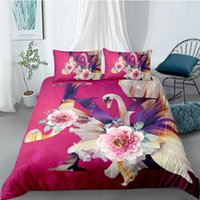 Wholesale 3d bedding set swan cotton for sale - Group buy Swan Bedding Set For Girls Romantic Sweet D Flowers Duvet Cover King Queen Twin Full Single Double Unique Design Bed Set