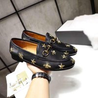 Wholesale Jordaan embroidered leather loafer Genuine Leather Women Loafers Luxury Woman Designer shoes Size Model QX1229