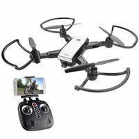 helicóptero de controle remoto real venda por atacado-LH-X28 GPS Drone 4-Axis Helicóptero de Controle Remoto em tempo real de transmissão Com 5MP Wifi Câmera HD GPS HD Camera Folding Drone