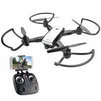 gps plegable al por mayor-LH-X28 GPS Drone 4 ejes Control remoto helicóptero Transmisión en tiempo real con 5MP Wifi HD Cámara GPS HD Cámara Drone plegable