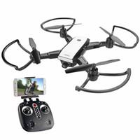 ingrosso gps pieghevole-LH-X28 GPS Drone a 4 assi con telecomando elicottero Trasmissione in tempo reale con 5MP Wifi HD Camera GPS HD Telecamera drone pieghevole