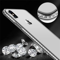 Wholesale iphone 5s diamond crystal case for sale – best Bling Diamond Transparent Crystal Soft TPU Back Cover Cases For iPhone Pro XR s Plus s SE X XS MAX