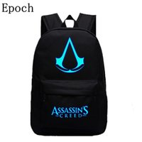 Wholesale assassins creed bags resale online - Epoch New Design Assassins Creed Backpacks Luminous Colors Backpack Canvas Printing School Bags For Teenagers Backpack