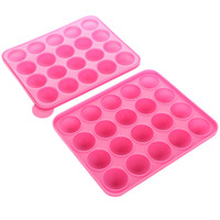 Wholesale pastry craft tools resale online - Silicone Cake Lollipop mold Fondant Silicone Mold Craft Chocolate Baking Mold Cake Decorating Tools kitchen Pastry Tool support