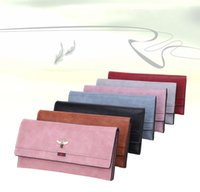 Wholesale luxury pouch bags wallet purse online - 7styles Long Wallets Designer Purse Luxury Clutch Bags Handbag Fashion Card Holders Retro Coin Change Pouch Totes Classic PU bag FFA2020