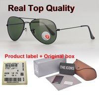 ingrosso 62mm plastica-Nuovo Arrial di marca occhiali da sole polarizzati degli uomini delle donne 58/62 millimetri polaroid lente di plastica sole Retro occhiali Goggle con la scatola di vendita al dettaglio e l'etichetta