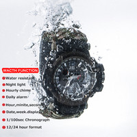 Wholesale survival ropes for sale - Group buy Men s Multi function Electronic Watch Survival Quartz Waterproof Watch Large Dial Umbrella Rope Bracelet Braided Digital Sport