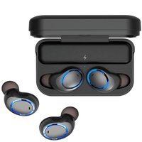 Wholesale iphone charging dock black for sale - Awei T3 TWS Binaural Bluetooth Earphones csr Noise Reduction Waterproof Wireless In Ear Stereo Earbuds With Mic And Charging Dock