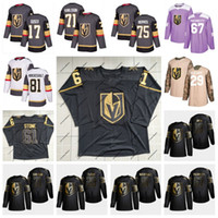 camisetas de hockey nhl montreal canadiens al por mayor-Mark Stone Vegas Golden Knights 2019 Golden Edition Marc-Andre Fleury Jonathan Marchessault William Karlsson Pacioretty Reaves Tuch Jersey