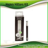 kits de adesivos venda por atacado-Heavy Hitter Kit Descartável 280 mAh Bateria Cartucho De Óleo De Espessura 0.3 ml Tanque De Bobina De Cerâmica Vape Caneta E Cigarro Kits Com 20 Sabor Adesivos
