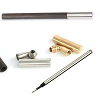 Wholesale handmade diy pen for sale - Group buy Handmade workshop wooden pen kits creative self assembly metal pen parts diy ballpoint pen