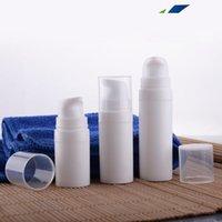 havasız şişe beyaz toptan satış-1 adet her 5 ml 10 ml 15 ml Beyaz mini Havasız Pompa Losyon Şişe, örnek ve test şişesi, Havasız Konteyner, Kozmetik Ambalaj