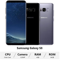 Wholesale android mobile 64gb resale online - Original Samsung Galaxy S8 G950U G LTE Mobile Phone quot GB RAM GB ROM Octa Core Android refurbished cellphone