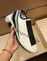 chaussettes de démarrage pour les femmes achat en gros de-Femmes Hommes Designer Baskets Vitesse Trainer Low-Cut Mode Chaussettes Bottes Plates Bottes Casual Chaussures Vitesse Trainer Chaussures De Marche Baskets
