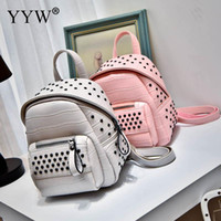 9da89c734cc5 Fashion Beautiful backpack Design studded Rivet Small women backpack  Crocodile grain. 37% Off