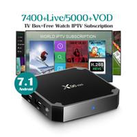 mini set tv box achat en gros de-X96 mini décodeur intelligent TV Box avec abonnement IPTV d'un an Android 7.1 TV Box S905w 2gb 16gb Wifi IPTV Box