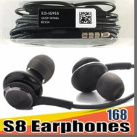 Wholesale samsung galaxy s6 edge plus earphones online – 168D S8 Earbuds Headphones Headset Earphone Microphone for Samsung Galaxy S8 Plus S7 S6 Edge Note free DHL