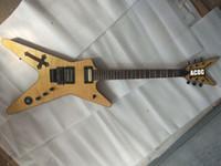 floyd stieg großhandel-Benutzerdefinierte Wash Southern Cross Dimebag Darrell BSG Flammenahorn natürliche elektrische Gitarre Abalone Cross Inlay, Floyd Rose Tremolo, schwarze Hardware