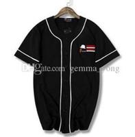 ingrosso linea veloce-NWT Nuovo Hip hop linea in bianco e nero ad asciugatura rapida T-shirt uniforme da baseball in jersey a maniche corte buona