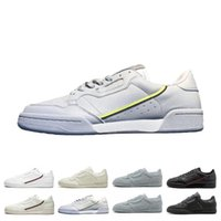 Wholesale leather box antique for sale - Group buy 2019 Antique Continental Rascal Leather Casual Shoes White OG Core Black Aero Blue Grey Pink Men Fashion Sneakers
