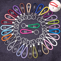 Wholesale keychain photos for sale - Group buy DHL Free Braided PU Leather Rope Keychain Key Rings Fit Circle Car Bag Pendant Key Chains Holder Keyring DIY Fashion Jewelry in Bulk
